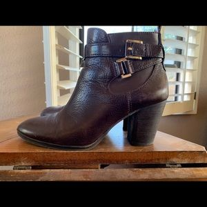Louise Et Cie brown leather booties
